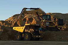 Cat 6020 hydraulic mining shovel