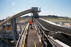 Conveyor belts enable safe coal transport