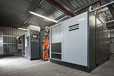 Welsh coal mine benefits from compressors
