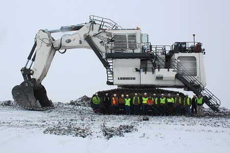 Trapper coal mine receives new excavator from Liebherr