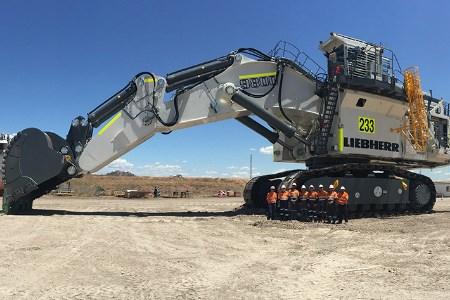 BHP welcomes Liebherr excavator to Mt Arthur coal mine